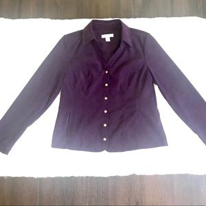 Plum Christopher & Banks Jacket Blazer
